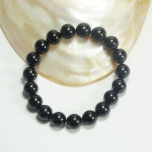 Black Beaded Plastic Pearl Bracelet