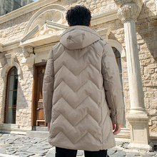 Custom men's casual warm outdoor down jacket
