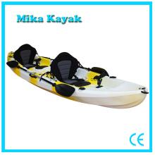 3 Persona Ocean Whitewater Kayak Barcos de pesca Canoa de plástico