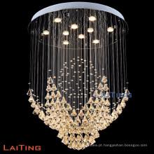 Luzes de suspensão decorativas de importação de cristal empresa lustre lâmpada pingente 92034