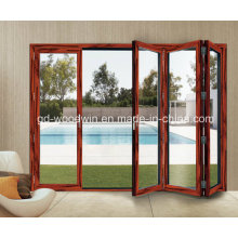 Thermal Break Aluminum Double Glass Bifold Door/Folding/Bifolding Door