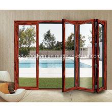 Дверь с двойным стеклом с двойным стеклом с двойным стеклом с двойным стеклом / Складная / двустворчатая дверь