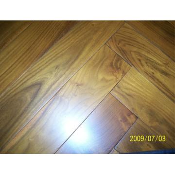 Herrinbone Parquet Chinese Teak (robinia) Suplemento de suelos de madera