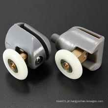 Plástico de nylon de alta qualidade 304 Aço inoxidável Latão Ducha Porta Rolos Corredores Rodas Rodas Rodas superiores e inferiores de 25mm