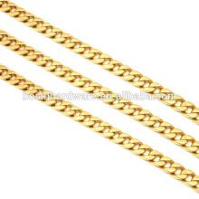 Fashion High Quality Metal Golden Aluminum Curb Link Chain