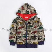 kids  clothing sports wear cars printed hoodie sweat shirt jacket