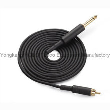 Hot Sale Tattoo Supplies Top Quality Black RCA Clip Cords for Tattoo Machine