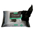 OEM charcoal facial cleaning makeup removal wipes