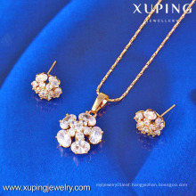 61400-Xuping Fashion Fake Charms Flower Shape Jewelry Sets