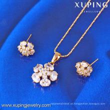 61400-Xuping Moda Falso Encantos Flor Forma Conjuntos De Jóias