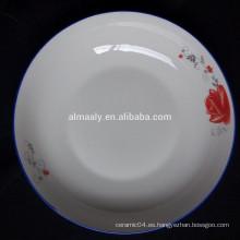 Plato de fruta de 8 pulgadas, plato de cena, plato de postre de cerámica