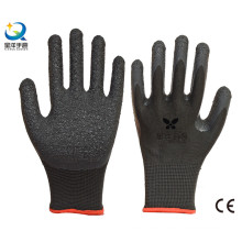 13G Poliéster Shell Latex Palm Coated Guantes de Seguridad