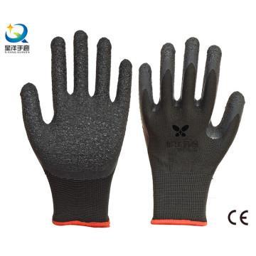 13G полиэстер Shell латексные ладони с покрытием безопасности перчатки
