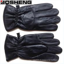 Warm Winter Full Finger Leather Gants minces Nouvelle mode