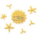 Yellow Leaf Shape Ceramic Mosaic for Mosaic Art