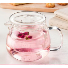 500ml Hitzebeständige Glas Teekanne mit Infuser Kaffee Blütenblatt Kräutertee Topf