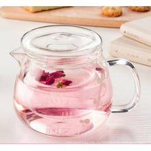 500 мл жаропрочного стеклянного чайника с цветочным листом для кофе «Infuser» Травяной чайный горшок