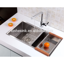 Small Radius R25 Stainless Steel SUS 304 Gauge 18/8 Double bowl kitchen Sink