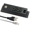 Tomacorrientes duales de EE. UU. Con existencias USB