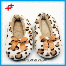 Winter Indoor Warm Anti-slip Leopard Sock Slipper Boots