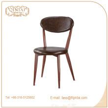gutes Material Eisen Leder Sitz Rest Gartenstuhl zu verkaufen