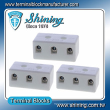 TC-203-A High Temperature 600V 20A 3 Pin Steatite Terminal Block