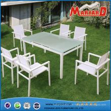 Großhandel Gartenmöbel mit ausziehbaren Esstisch und Sling Stühle