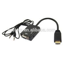 2014 vente chaude VGA au câble HDMI 1080P HDMI mâle à VGA Câble adaptateur vidéo femelle pour PC DVD HDTV
