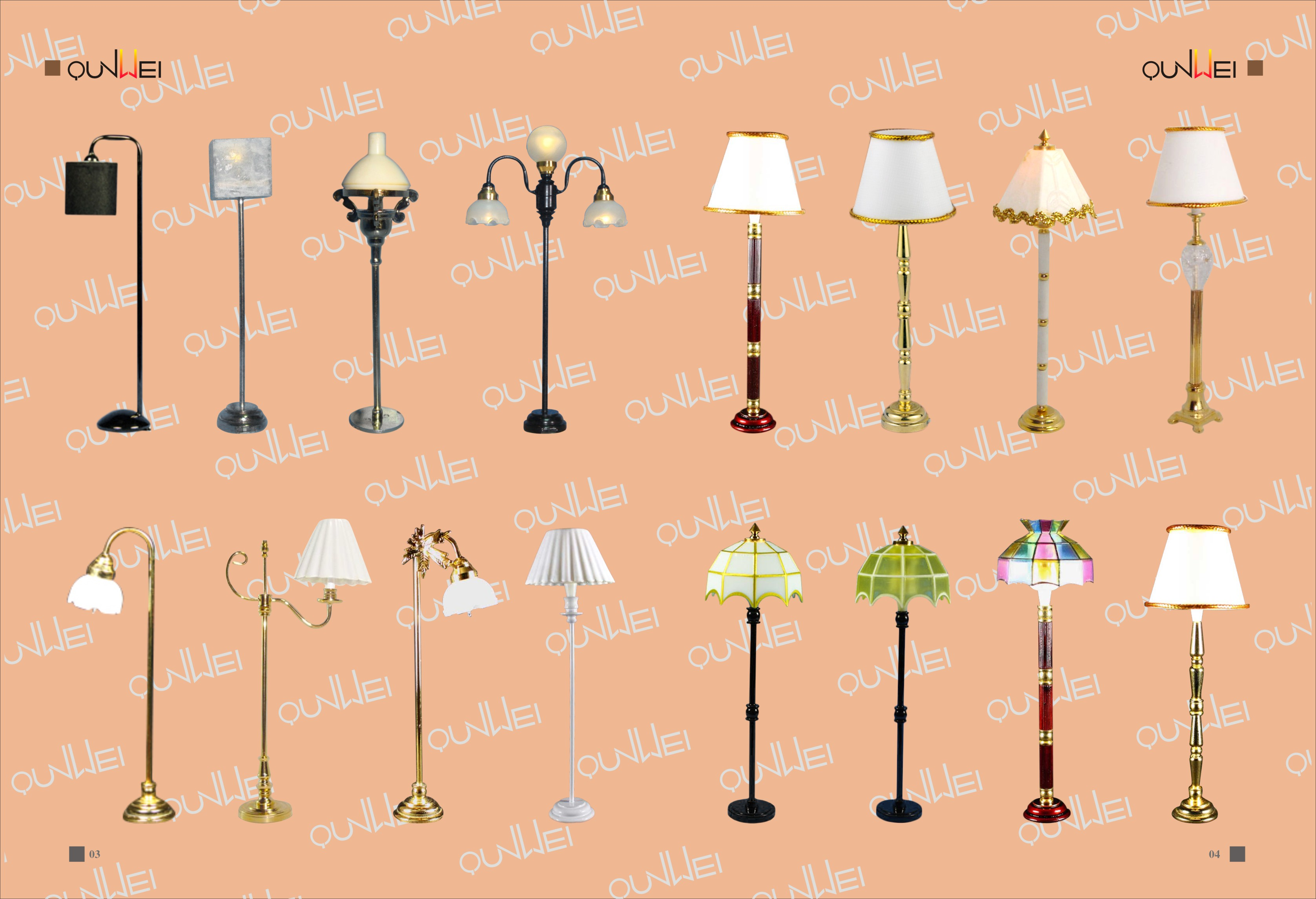Dollhosue Floor Lamp