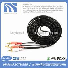Cable 2RCA a 2RCA Cable de audio macho doble con cable AV estéreo