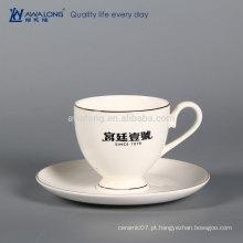 200ml Marca Personalizada Copo De Café Cerâmico Fino E Pires