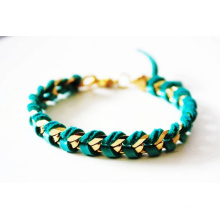 2014 summer fashion bracelet braid chain bracelet gold bracelet