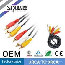 SIPU barato 1,8 m topo gama 3 cabo RCA para 3 RCA digital Audio vídeo AV