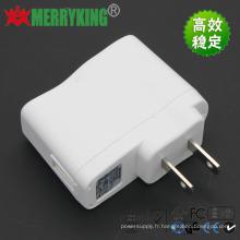 Adaptateur CA / CC 5V2a Chargeur USB blanc 10W, adaptateur secteur avec UL Cert