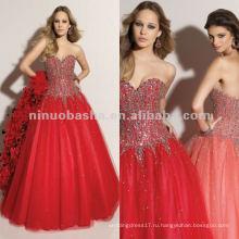 Нью-Йорк-2360 ручной бисером бальное юбка пышное платье