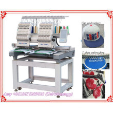 HOLiAUMA New Condition DAHAO System 2 Heads Computerized Embroidery Machine For Sale