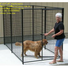 Portable easy setting up powder coated steel dog pens