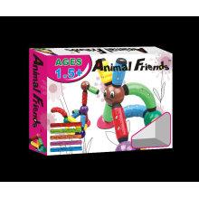 Plástico magnético animais brinquedos conector