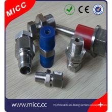 adaptador de termopar ajustable accesorio de compresión de latón