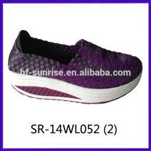 2014 neue Arten SR-14WL058 mischen Farben handgewebte Bügelschuhe