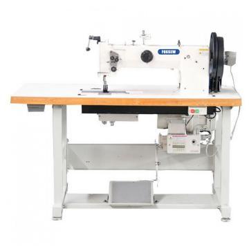 Máquina de costura de couro resistente do pé de alimentação dobro do composto da agulha