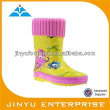 Cartoon kid's rubber rain boot