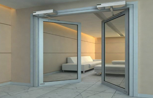 Double Parting for Automatic Swing Doors