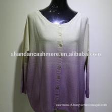 Silk55% cashmere45% casaco de tingimento de espaço feminino