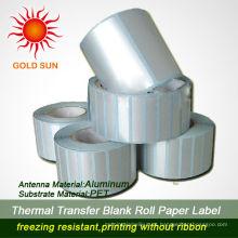 Rótulo de rolo de papel adesivo personalizado impermeável de 2013