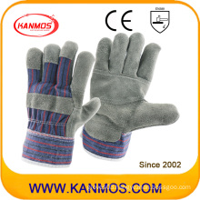 Reversed Furniture Leather Work Safety Industrial Gloves (310091)