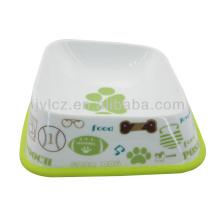 2014 nuevos platos de porcelana del diseño del perro