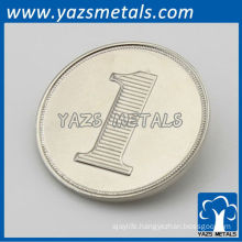 Custom metal logo silver coin replica
