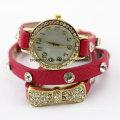 Moda meninas pulseira de couro pulseira relogios de pulso