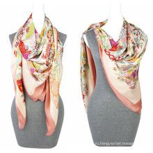 Мода печать шифон 100% полиэстер шелка чувствовать шарф площади шарф